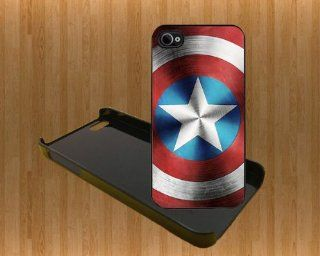 Captain America Shield Custom Case/Cover FOR Apple iPhone 5 BLACK Plastic Hard Snap Case WITH FREE SCREEN PROTECTOR ( Verison Sprint At&t) Cell Phones & Accessories