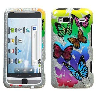 HTC G2 Butterfly Garden (Sparkle) Phone Protector Cover Case Cell Phones & Accessories