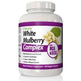 White Mulberry Leaf Extract Weight Loss Supplement   Powerful New Diet Pill, Natural Sugar Blocker, Appetite Suppressant with 500 mg Morus Alba Plus (15% Flavonoids) Garcinia Cambogia (60% HCA), Green Coffee Bean Extract (50% GCA�), African Mango Extract a