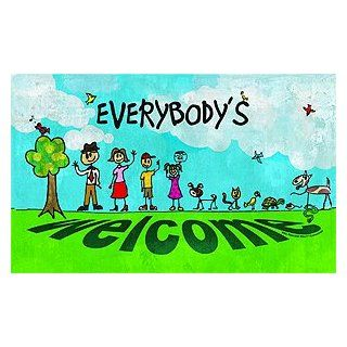 "Stick Figure Weclome Doormat 18"" x 30''  Patio, Lawn & Garden"