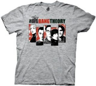 Big Bang Theory Group 5 Blocks Mens Tee Clothing