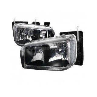 Cadillac Escalade 1999 2000 Euro Headlights   Black Housing Automotive