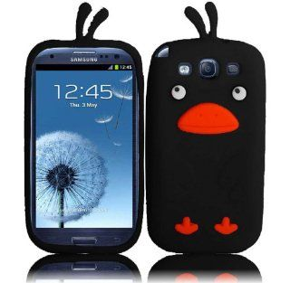 Black Funny Duck Silicone Jelly Skin Case Cover for SAMSUNG GALAXY S3 S III i747 (ATT) / i535 (Verizon)/ T999 (T mobile) / L710 (Sprint) / i9300 Cell Phones & Accessories