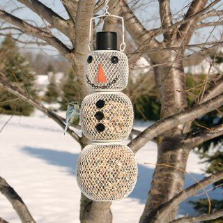 Snowman Bird Feeder  Wild Bird Feeders  Patio, Lawn & Garden