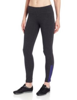 Calvin Klein Performance Women's Legging With Contrast Zipper, Slate Heather/Lapis, Large Athletic Leggings