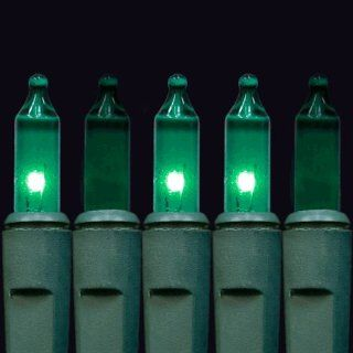 "Blue Chasing Mini Lights, Standard Grade, No End Connector   140 Blue Chasing Mini Lights, 4"" Spacing, Green Wire   Home And Garden Products"