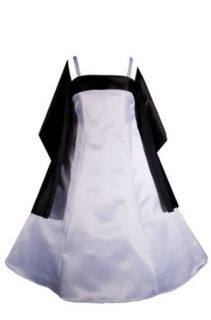 AMJ Dresses Inc Girls White/black Flower Girl Formal Dress Sizes 6 to 16 Special Occasion Dresses Clothing