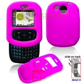 Hot Pink Soft Silicone Gel Skin Cover Case for Cricket PCD TXTM8 [Beyond Cell Packaging] Cell Phones & Accessories