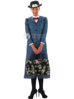 Disney Mary Poppins Full Costume  Adult Medium (12 14) Adult Sized Costumes Clothing