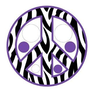 Zebra Print / Stripe Polka Dots & Peace Sign Repositionable Wall Decals, Purple   Wall Decor Stickers
