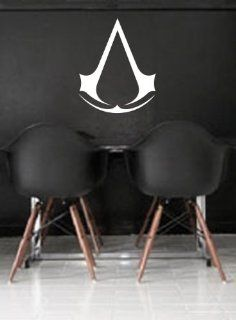 Assassin's Creed Wall Art Sticker Decal Peel and Stick. White   Wall Decor Stickers