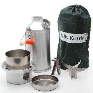Kelly Kettle USA   Volcano Kettle   Ultra Fast Boiling Kettle. Large Aluminum Base Camp Kelly Kettle Complete Kit, perfect for Cooking, Hiking, Camping, Kayaking, Fishing, and Hunting. The Kelly Kettle is the Outdoor Enthusiasts best friend. Kelly Kettles