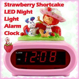 Strawberry Shortcake LED Night Light Alarm ClockHello Kitty & Disney Princess Alarm Clock also available   Childrens Bedroom Furniture