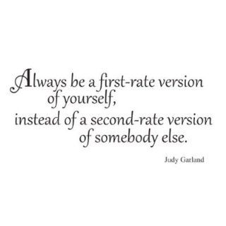 Always be a first rate version Judy Garland quote way saying vinyl decal sticker   Wall Decor Stickers