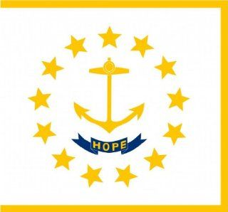 "2"" Rhode Island flag. Printed engineer grade reflective vinyl decal sticker for any smooth surface such as windows bumpers laptops or any smooth surface."