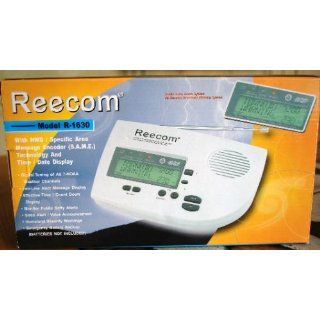 Unique 200 Hours Back up Battery Life Time (Standby), Reecom R 1630C S.A.M.E Weather Alert Radio (Light Grey), Alert Message and Effective Time Count Down Display At a Glance, 25 Event Memories Electronics
