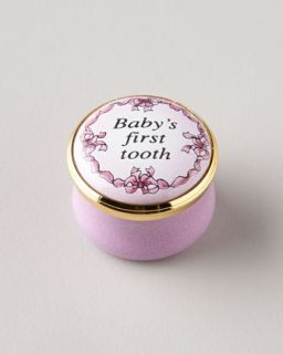 Pink Babys First Tooth Box   Halcyon Days Enamels
