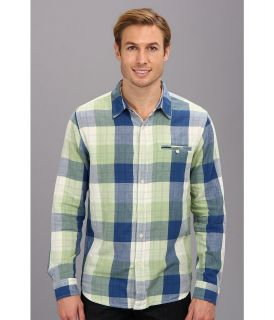 Lucky Brand Bailey Shirt Mens Long Sleeve Button Up (Blue)