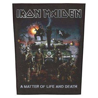Iron Maiden A Matter Of Life And Death Back Patch Music Fan Apparel Accessories Clothing
