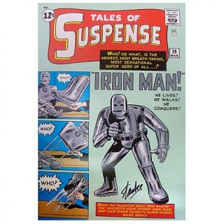 "Marvel Handsigned Limited Edition Iron Man ""Origins Tales of Suspense #39"