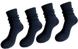 4 Pack 35� Below Merino Wool Blend Unisex Arctic Socks Small Navy