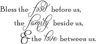 Bless the food before us the family beside us & the love between us wall quote wall decals wall decal wall sticker   Wall Decor Stickers