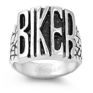 316L Stainless Steel Biker Ring For Men Size 9 15; Comes With Free Gift Box (15) Jewelry