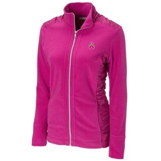 Cutter & Buck San Diego Chargers Ladies Arboretum Breast Cancer Awareness Full Zip Fleece Jacket   Pink