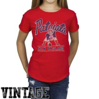Junk Food New England Patriots Youth Girls Kickoff T Shirt   Red
