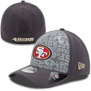 Mens New Era Graphite San Francisco 49ers 2014 NFL Draft 39THIRTY Flex Hat