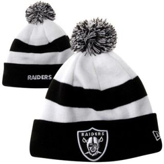 New Era Oakland Raiders Fashion Sport Knit Hat   Black/White
