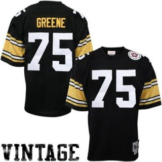 Mitchell & Ness Pittsburgh Steelers #75 Joe Greene Black Authentic Throwback Football Jersey
