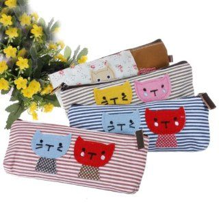 Cat Canvas Pen Bag Pencil Case, Brand New, Different Colors, set of 4  Cosmetic Bags  Beauty