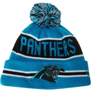 New Era Carolina Panthers The Coach Cuffed Knit Hat with Pom   Panther Blue/Black