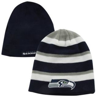 47 Brand Seattle Seahawks Iconic Reversible Cuffless Knit Hat   College Navy/White/Gray