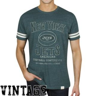 Junk Food New York Jets Tailgate Tri Blend T Shirt   Green