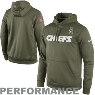 Nike Kansas City Chiefs Salute to Service KO Pullover Performance Hoodie   Olive