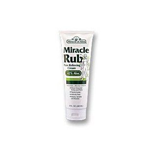 Miracle Rub Pain Relieving Cream 4 Oz Say Goodbye to Tired, Aching Muscles and Joints Due to Arthritis, Rheumatism and Bursitis. Penetrates Deep and Provides Soothing Pain Relief Quick Fast Acting Ingredients Provide Relief of Minor Muscular Aches and Pai