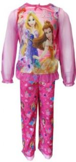 Disney Princesses Ariel, Rapunzel and Belle Toddler Pajama for girls (2T) Clothing