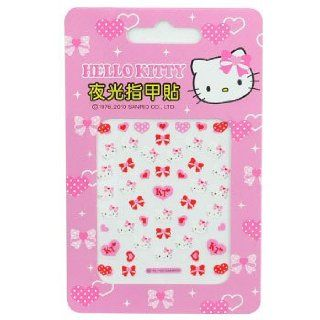 Hello Kitty Nail Decal Stickers Hearts & Bows Toys & Games