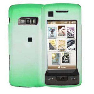 Hard Plastic Snap on Cover Fits LG VX11000 EnV Touch Semi Transparent 2Tone Ice Neon Green Verizon (does NOT fit LG VX10000 Voyager) Cell Phones & Accessories