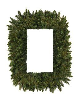 "36"" Camdon Fir Rectangular Artificial Christmas Wreath   Unlit   Square Wreath"