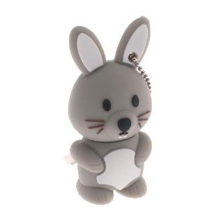 4GB Cartoon Lovely Rabbit USB 2.0 Flash Memory Drive Gray Computers & Accessories