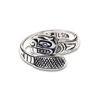Sterling Silver Beaver Ring. Made in USA. Bill Wilson Jewelry