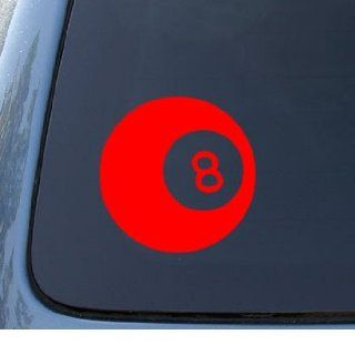 EIGHT BALL   Billiards 8 ball   Car, Truck, Notebook, Vinyl Decal Sticker #1085  Vinyl Color Red Automotive