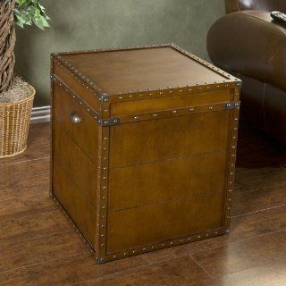 Southern Enterprises Steamer Trunk End Table   End Tables Living Room