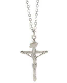 First Holy Communion Silver Crucifix Necklace for Girls Jewelry