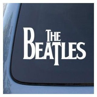 "The BEATLES Band Logo   6"" WHITE   Vinyl Decal WINDOW Sticker   NOTEBOOK, LAPTOP, WALL, WINDOWS, ETC. Automotive"