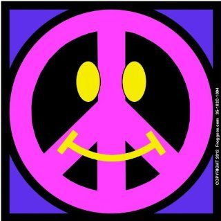 "SMILEY PEACE SIGN   PINK/PURPLE   STICK ON CAR DECAL SIZE 3 1/2"" x 3 1/2""   VINYL DECAL WINDOW STICKER   NOTEBOOK, LAPTOP, WALL, WINDOWS, ETC. COOL BUMPERSTICKER   Automotive Decals"