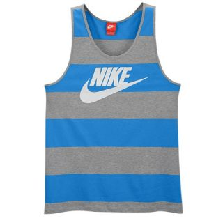 Nike Glory Tank   Mens   Casual   Clothing   Light Photo Blue/Dark Grey Heather/White